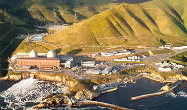 Aerial photo of Diablo Canyon Power Plant