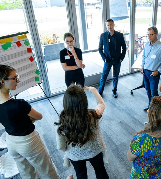 Participants at a reach workshop