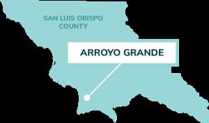 map showing location of Arroyo Grande