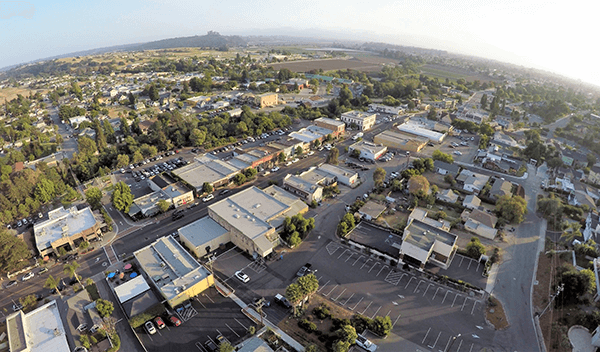 aerial view of arroyo grande