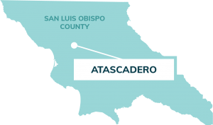 map showing location of Atascadero