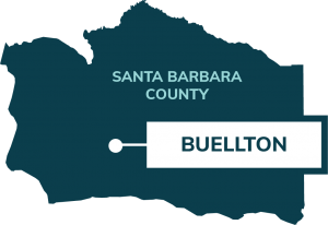 map showing location of buellton