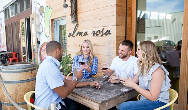 People wine tasting in Buellton