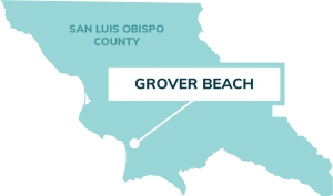 map showing location of Grover Beach