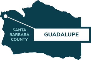 map showing location of Guadalupe