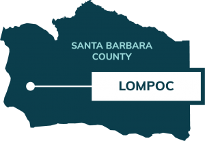 map showing location of Lompoc