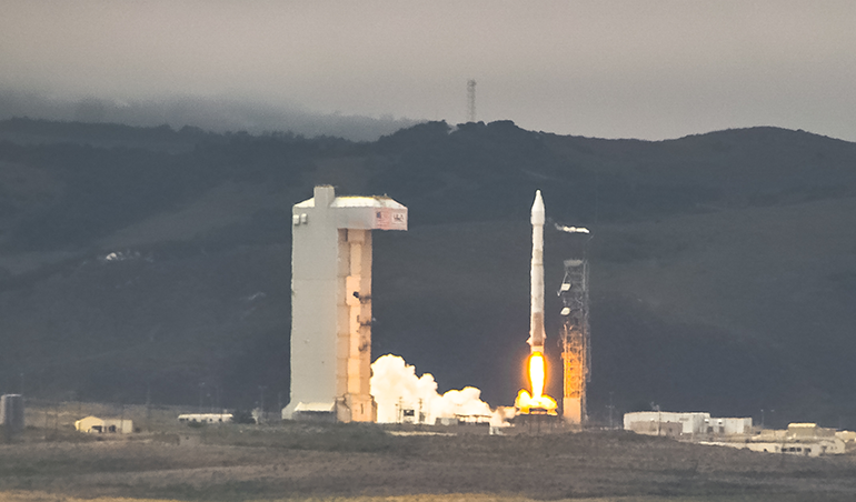 a rocket launches from Vandenberg AFB