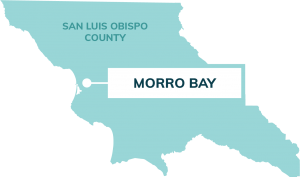 map showing location of morro bay