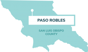 map showing location of paso robles