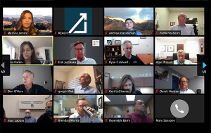 Screenshot of the REACH Council meeting on Zoom