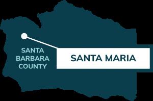 map showing location of Santa Maria
