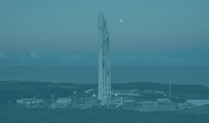 A SpaceX rocket at Vandenberg AFB