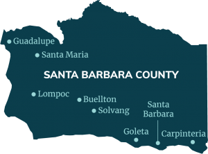 map showing santa barbara county
